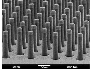 HAR glass pillars etch