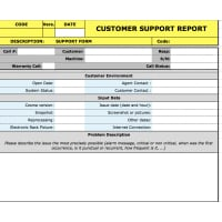 Customer support form
