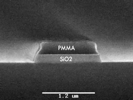 Low damage Silicon Dioxide (SiO2) RIE etch on 100 mm wafer